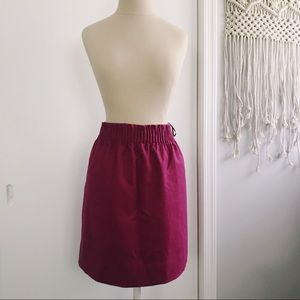 JCREW PLUM SKIRT